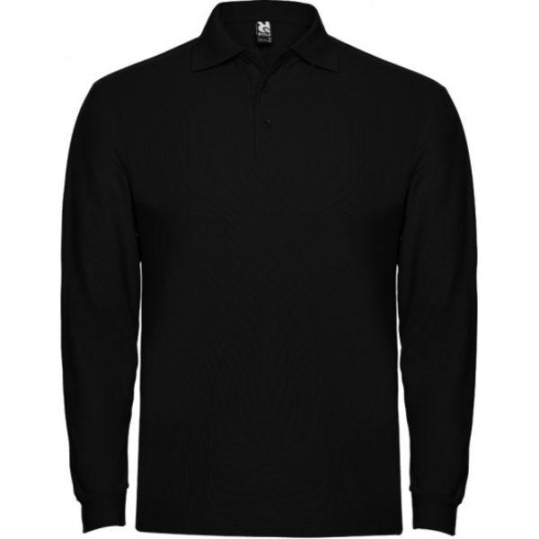 Tricou Polo negru maneca lunga barbati ESTRELLA – Roly 6635