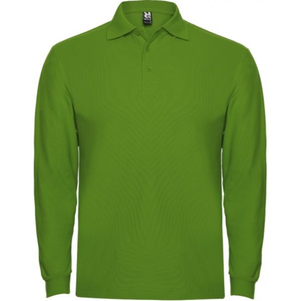 Tricou Polo verde maneca lunga barbati ESTRELLA – Roly 6635