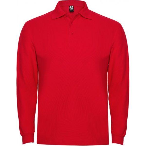 Tricou Polo rosu maneca lunga barbati ESTRELLA – Roly 6635